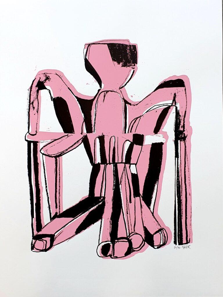 Vinst 2020 i Våga Se Konst - Konstlotteri. EKTA, 'Insufficient'. Teckning med vaxkrita, 80x60 cm. Upplaga 70