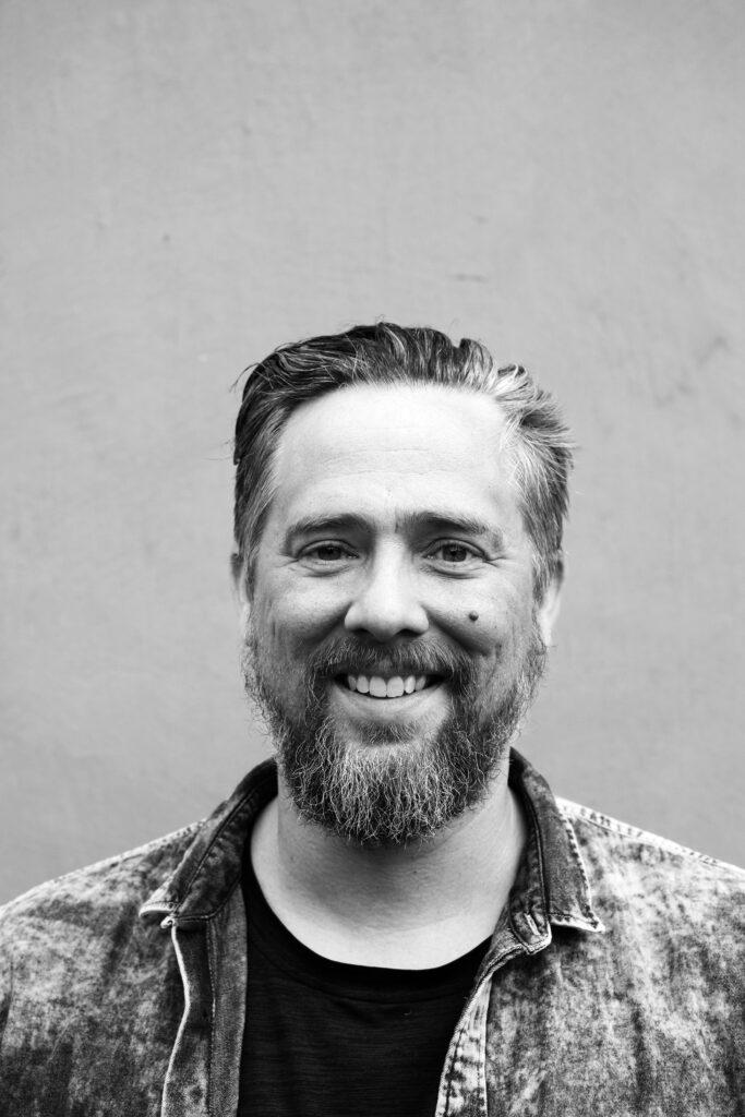 Erik Kihlbaum, konstnär. Porträttfotografi, svartvitt