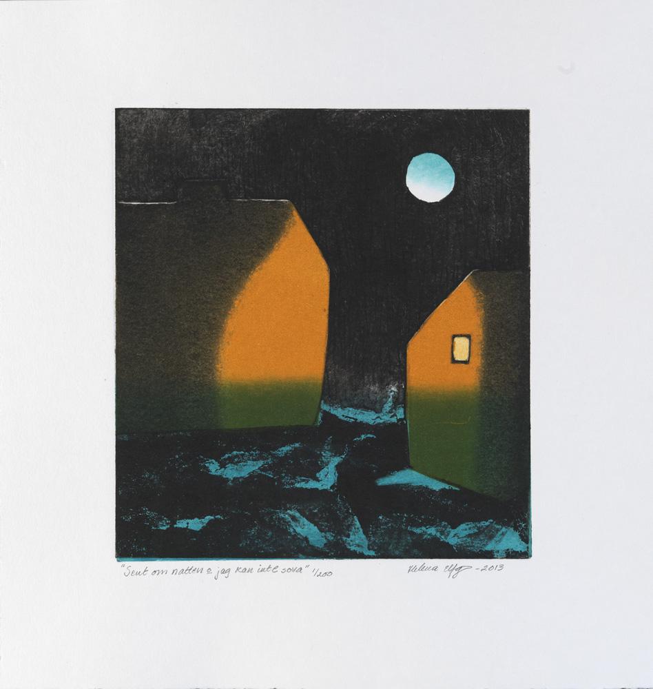 Helena Elfgren konstnär - konstverk 2 Sent om natten och jag kan inte sova - Våga Se Konst