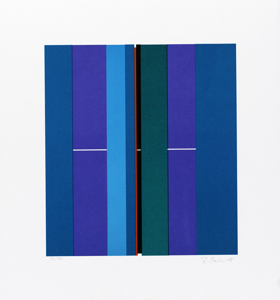 Konstnär Ilkka Pärni. Konstverk benämning IP1 'Utan titel 1', litografi, pappersmått: 34x30 cm, bildmått: 22x20 cm, upplaga 295. Våga Se - Konst.