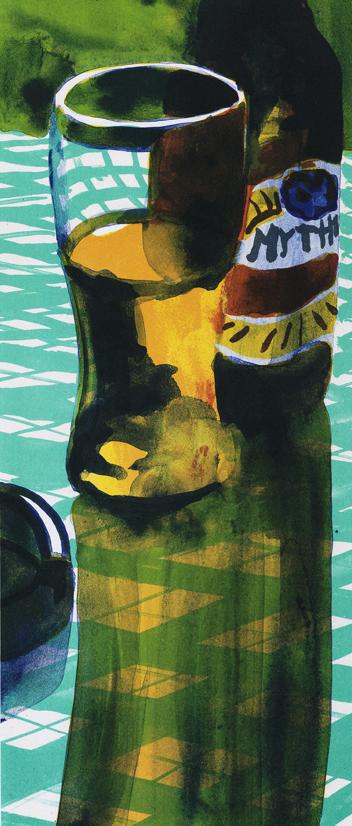 """Konstnär Peter Sternäng. Konstverk benämning PEST6 """"Utan titel 6"""", litografi, pappersmått: 28×42,5 cm, bildmått: 15×35 cm, upplaga 295. Våga Se - Konst"""