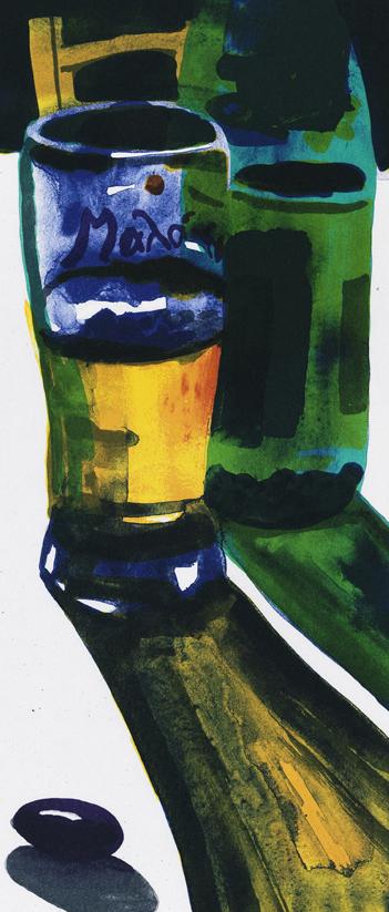 Konstnär Peter Sternäng. Konstverk benämning PEST1 'Utan titel 1', litografi, pappersmått: 28×42,5 cm, bildmått: 15×35 cm, upplaga 295. Våga Se - Konst