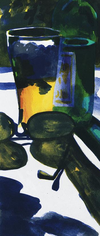 """Konstnär Peter Sternäng. Konstverk benämning PEST3 """"Utan titel 3"""", litografi, pappersmått: 28×42,5 cm, bildmått: 15×35 cm, upplaga 295. Våga Se - Konst"""
