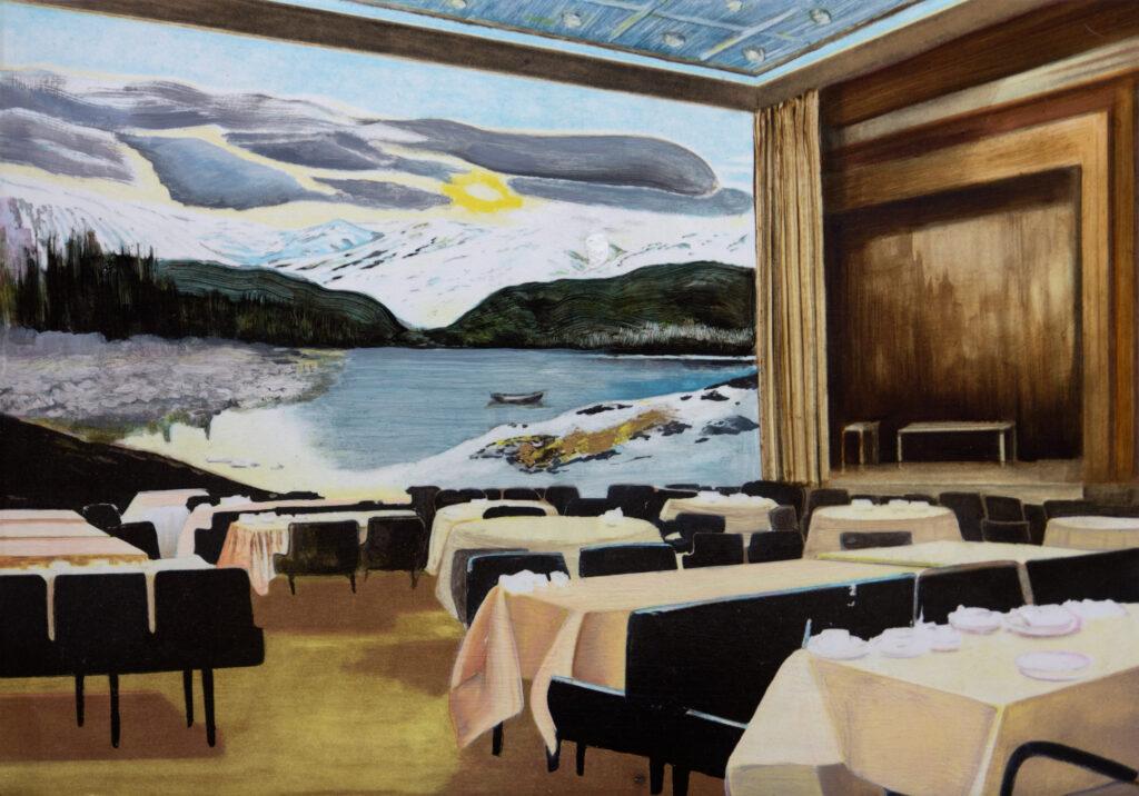 Vinst i Våga Se - Konst konstlotteri 2020. Konstnär Samira Englund, 'Next Morning'. Litografi, handkolorerad, 37x53 cm. Upplaga 90