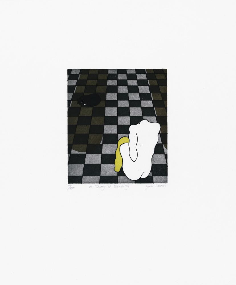 "Yoko Akino ""A theory of relativity"", etsning, pappersmått: 34x40 cm, bildmått: 14x16 cm, upplaga 295"